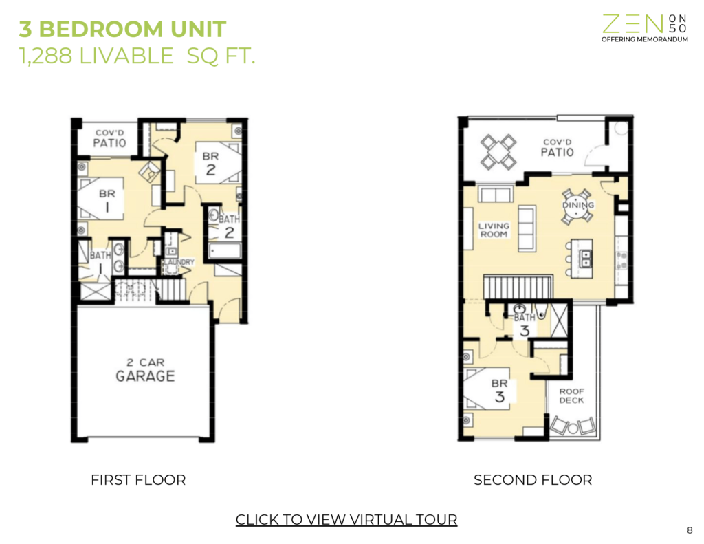 3 Bed 3 Bath Floorplan